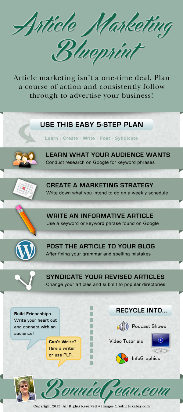 Article Marketing Blueprint InfoGraphic