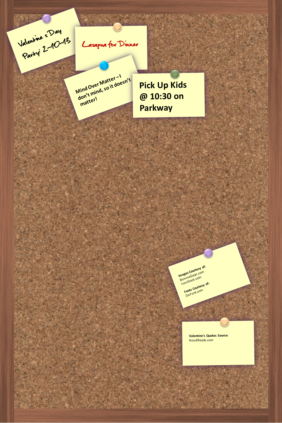 Corkboard InfoGraphic Template